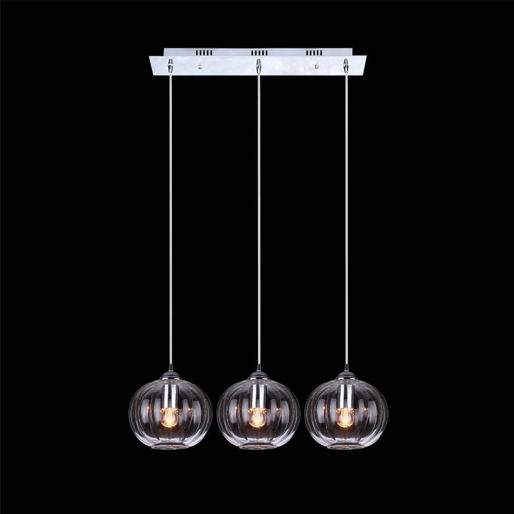 Tres luces claro bola de cristal lampara colgante para - Colgantes de cristal para lamparas ...