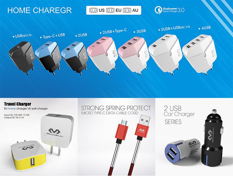 तेजी से चार्ज अमेरिका यूरोपीय संघ ए. यू. ब्रिटेन प्लग जल्दी चार्ज 3.0 यूएसबी यात्रा चार्जर क्यूसी 3.0 यूएसबी दीवार चार्जर OEM