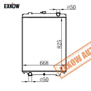 Vacuum Brazed Aluminium Radiator for Hitachi Excavator Zaxis ZX200-1 4424522