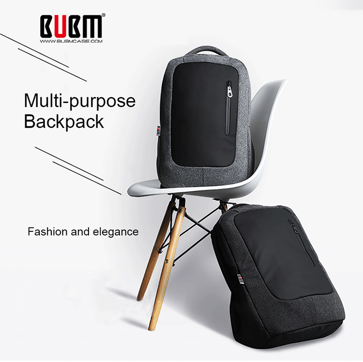 BUBM Multi-function Men Waterproof Laptop Backpack With Comfortable Shoulder Strap