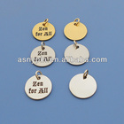gold and silver engraved metal sheet/metal plate/metal jewelry tags