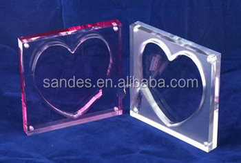 Clear Large Heart Shape Acrylic Magnetic Picture Frame Buy Cheap
