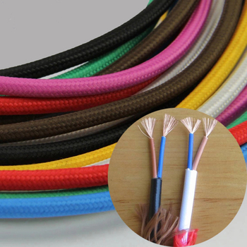 Fabric Copper Wire ided Electrical Wire Cloth Covered Wire Lighting on