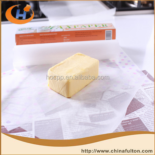 China Paper Manufacturer Supplies Wax For Food Grease Resistant Microwave Safe Products