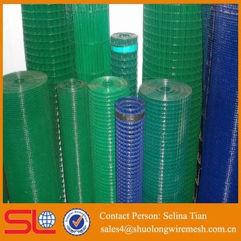 1inch X 2 Inch Green14 Gauge Vinyl Coated Welded Wire Mesh Fence ...