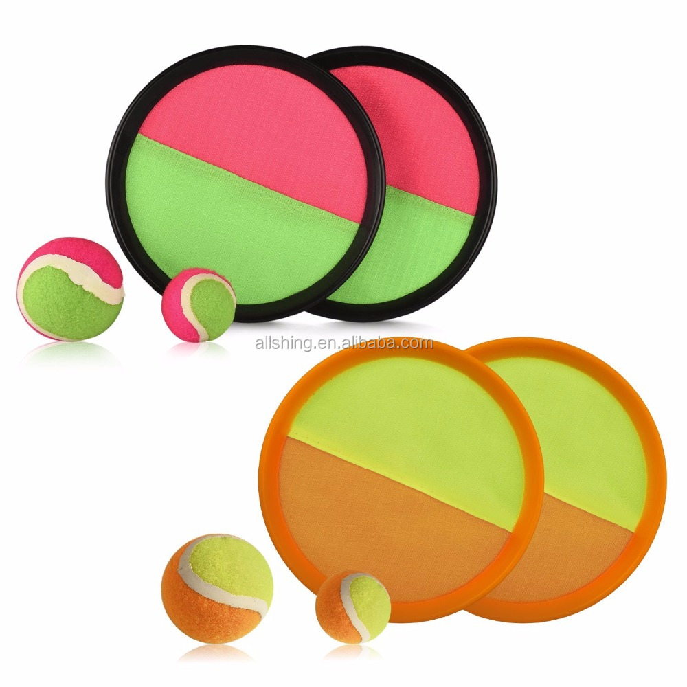 wholesale Paddle Ball Catch Set Self-Stick Disc Paddles and Toss Ball Sport Game Equally Suitable Game for Kids & Adults