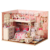 diy puzzle educational toy DIY wooden doll house miniature gift for kids