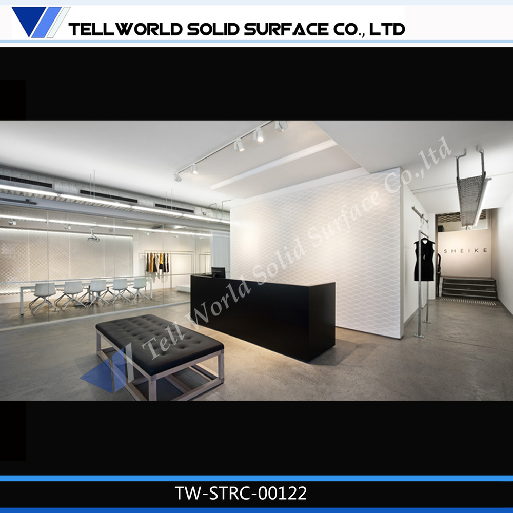 Tell World Produces Artificial Marble Modern Shop Counter Design ...