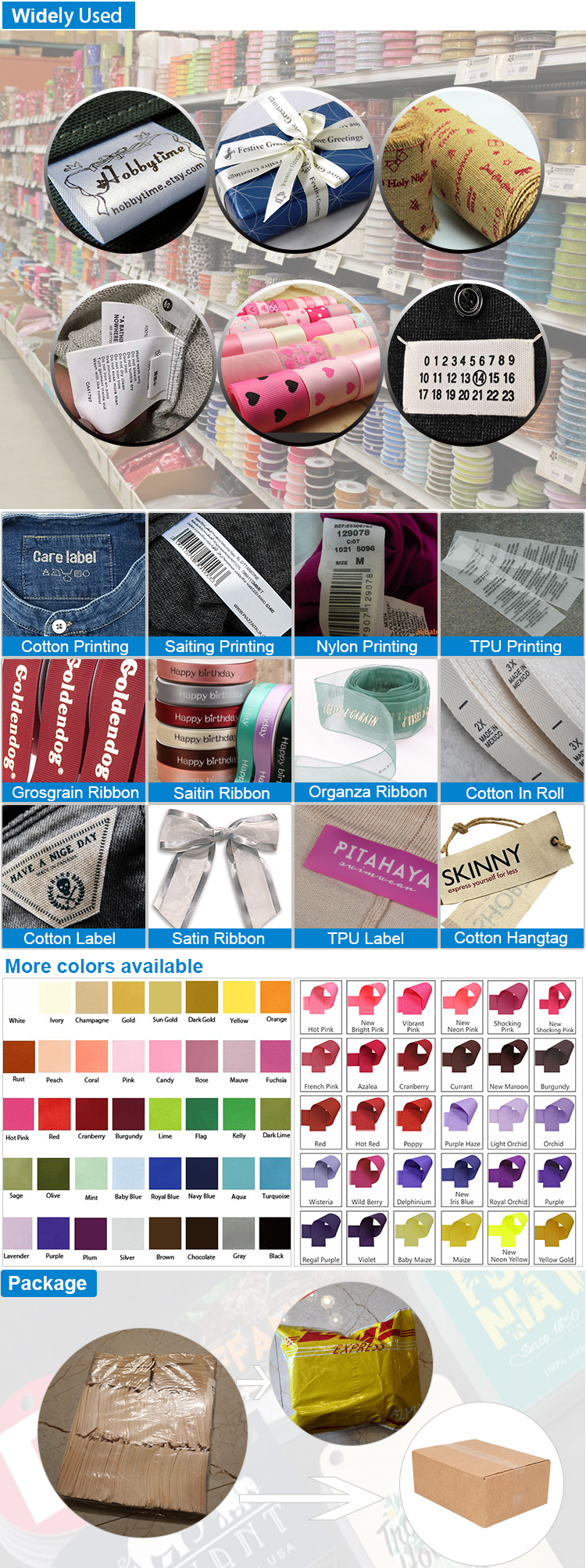 Cheap Price Factory wholesale Sewing on Soft Fabric Baby T Shirt Washing Care Clothing Price Tags Satin Printed Garment Labels