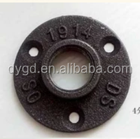 "malleable iron flange/retro floor flange galvanized or black color malleable iron threaded 1/2 "" and 3/4"""
