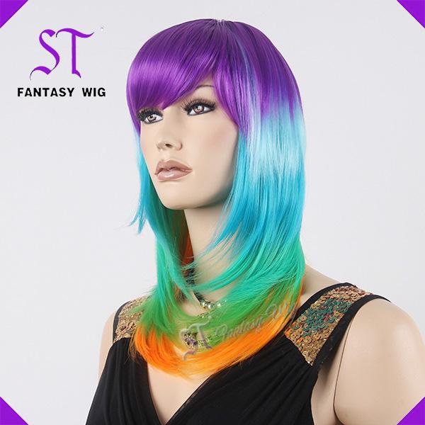 spcial et color faux cheveux perruque cosplay partie perruque pour - Perruque Colore