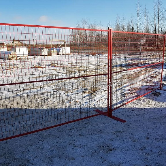 Canada standard 50X100 mesh powder coated temporary fencing/outdoor temporary fence panel 6X12