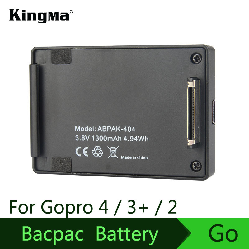 KingMa GoPro Hero4/3+/3/2 Universal Battery Clip Back Battery Gopro4 Extended