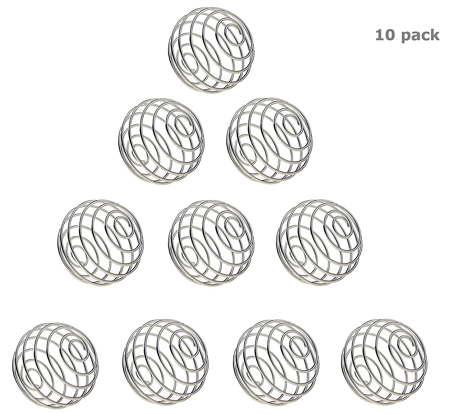 Wire Mixer Mixing Whisk Ball Replacement For Shaker Cup,Pack of 8 Mocollmax Stainless Whisk Ball Wire Shaker Ball 2.1 X 1.9