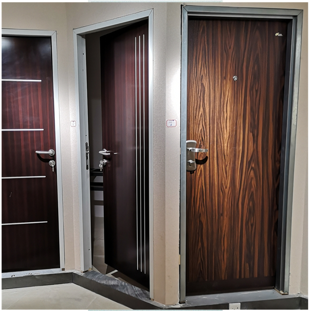 MADRID Model Israeli Security Door,Entry Door Copper Finish