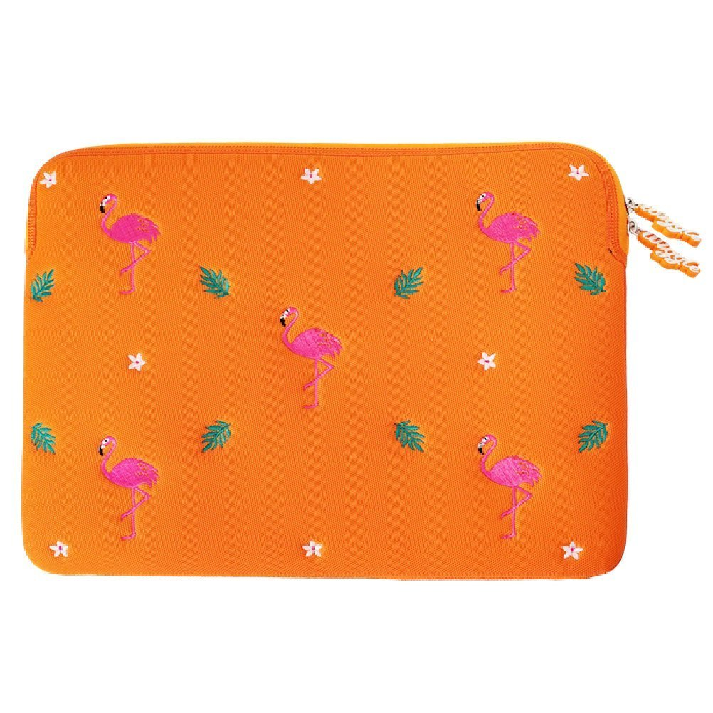 "wiggle wiggle Laptop Sleeve - Dancing Flamingo 13"" Yellow"