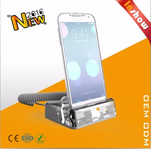 new security display holders for cell phone with Micro USB charge alarm
