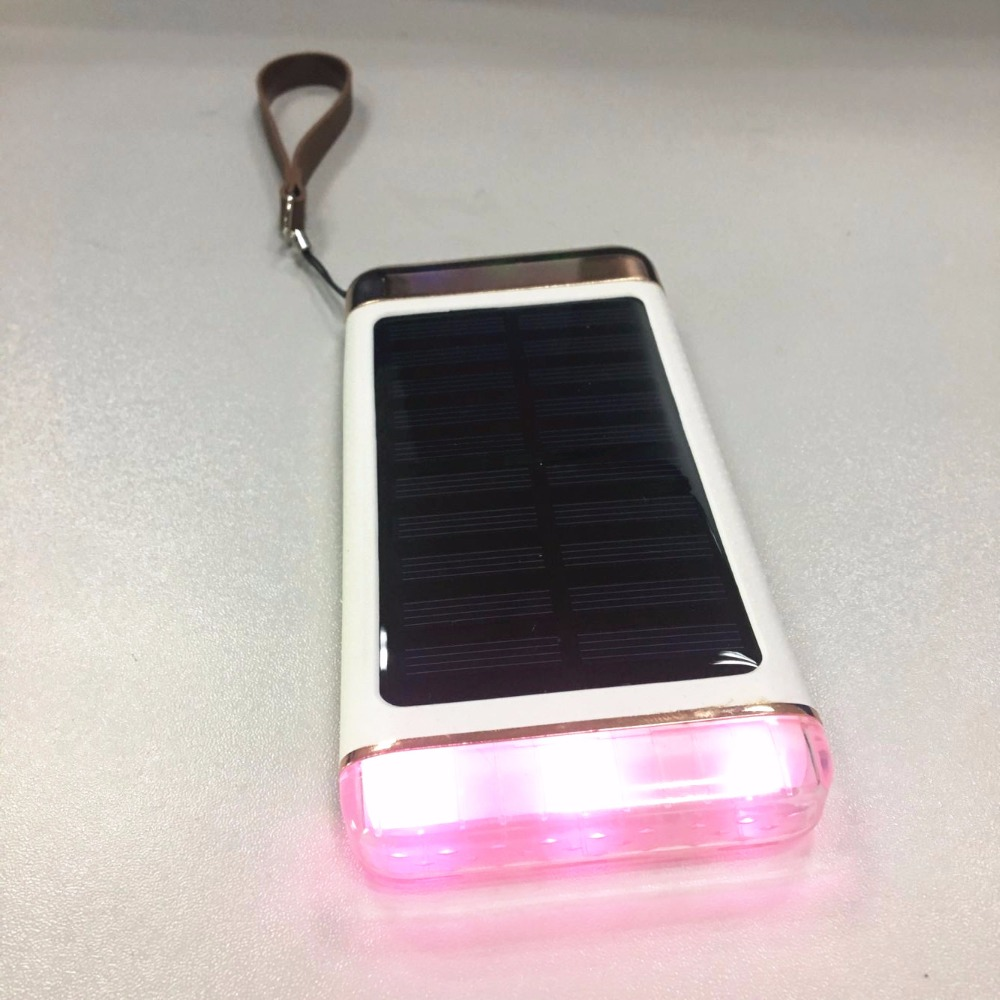 Best sale <strong>portable</strong> Solar with LED flashlight Travel Charger ultra gifts power bank h