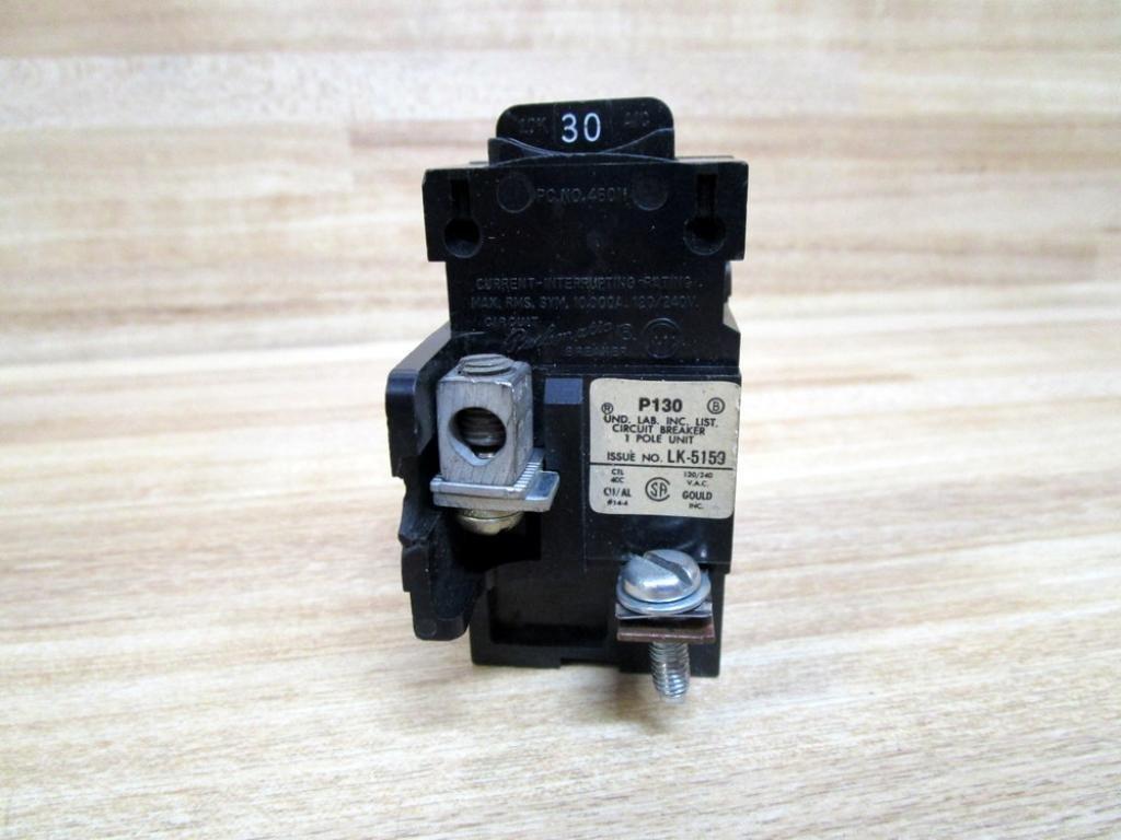Guaranteed 30 Amp PUSHMATIC Siemens ITE BULLDOG 30A 120V 1 Pole BREAKER P130