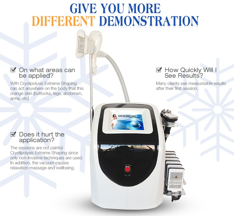 Portable Cryolipolysis vacuum cavitation slimming lipo laser device