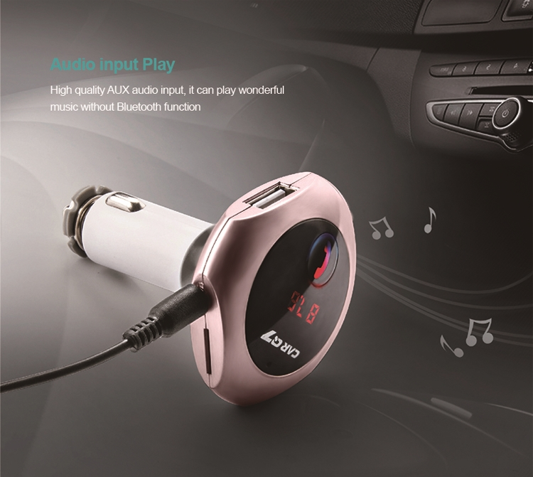GXYKIT Q7 BT fm transmitter wireless car mp3 radio adapter mp3 transmitter usb
