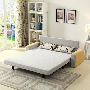 Fabric Sofa Bed Furniture Metal Frame With Drawer Folding Bunk