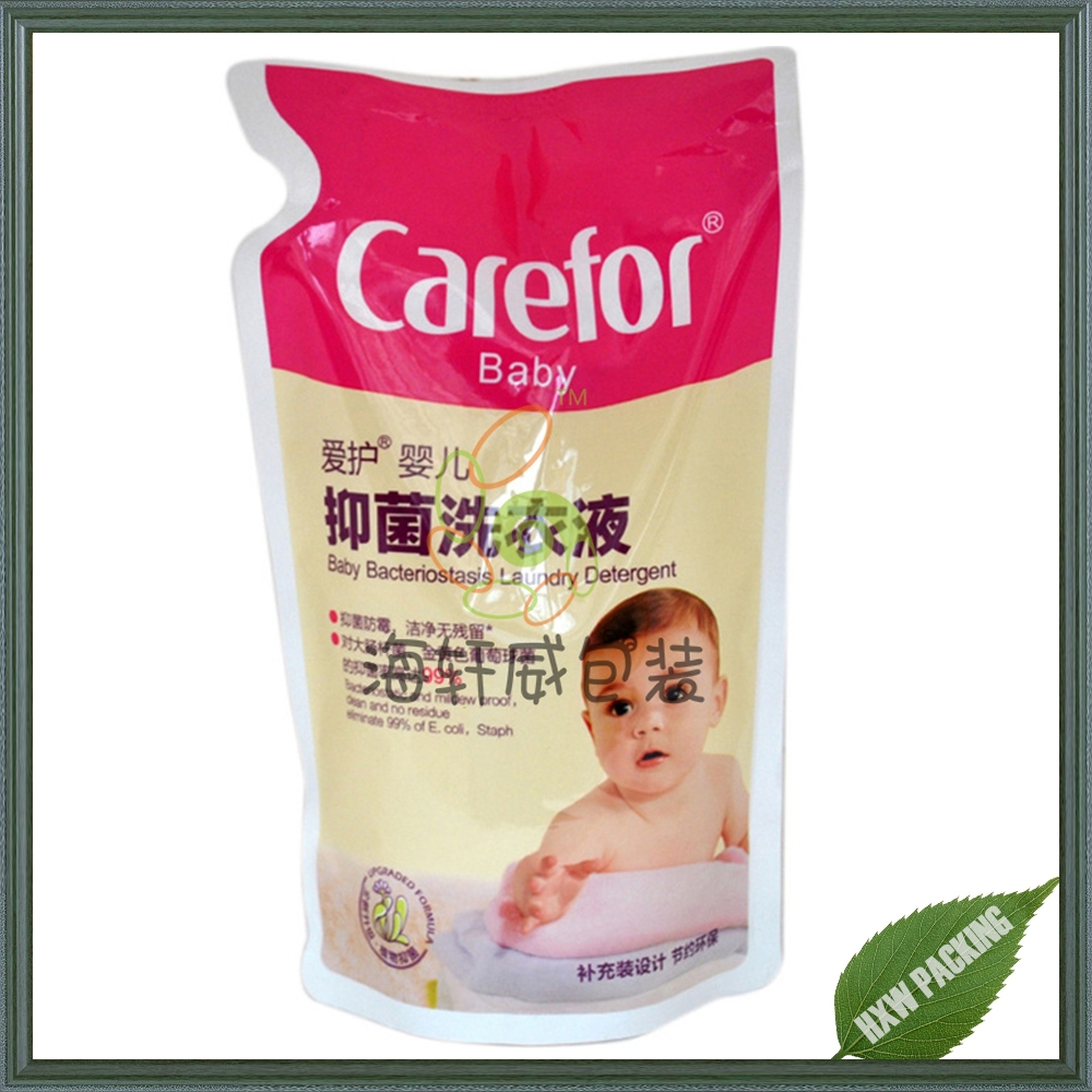 standup resealable plastic pouch bag for baby wet wipe packing