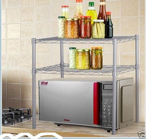 Table Top Metal Microwave Oven Cabinet Grill Rack