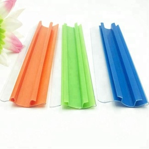 Hook plastic price shelf label c channel price tag holder
