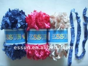 polyester lurex feather yarn
