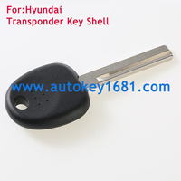 top quality car remote key shell case For Hyundai Accent transponder key shell with uncut right blade
