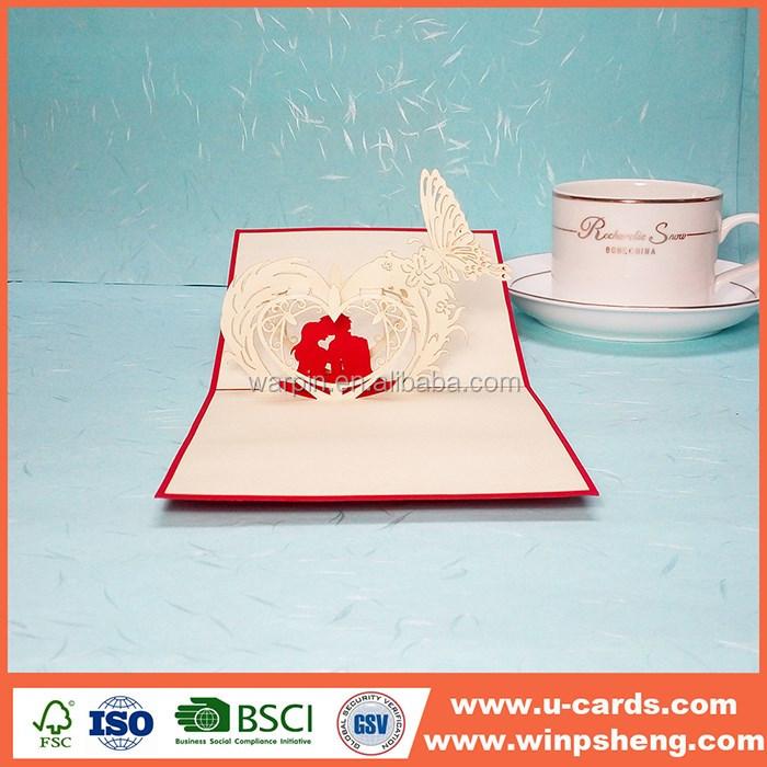 Fold Wedding Invitations Cards With Envelope Pocket Fold Invitation