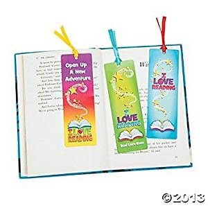"12 ~ I Love Reading Bookmarks ~ Approx. 2"" X 6"" ~ Card Stock ~ Assorted Designs ~ Inc. Ribbons ~ New ~ Student Bookmarks"