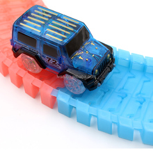 Colorful Magic Eletric Track Car Toy Glow In The Dark Race Track Electric Toy Race Track For Kids