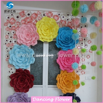 Paper flower decoration for shopping mall wfah 17 buy giant paper flower decoration for shopping mall wfah 17 mightylinksfo