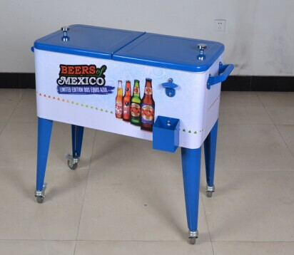 Patio Cooler Box With Wheels
