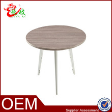 New arrival small round meeting table with metal legs M1556