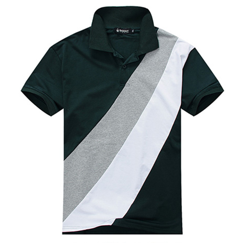 7f9910991402a Buy PLUS SIZE ONLY 3XL-7XL Men Solid Polo Shirt Gradient Color Green and Black  Men Short Sleeve Loose Cotton Polos 6XL
