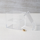 Personalized Clear Acrylic Wedding Ring Box, Small Acrylic Jewelry Display Box