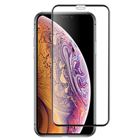 Custom size 9H 3D mobile phone toughened film tempered glass screen protector for iphone Xs Max