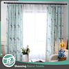 High quality Printed linen flower curtain for living room