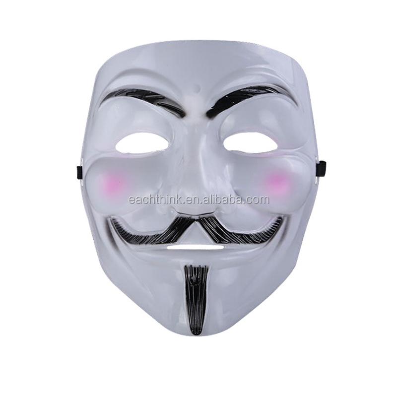 En Gros Pvc Horreur V Pour Vendetta étrange Sourire Blanc Masque D