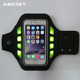 Alibaba Haissky sport armband pouch led light armband Mobile Phones Running Fabric Reflective Sport Armband
