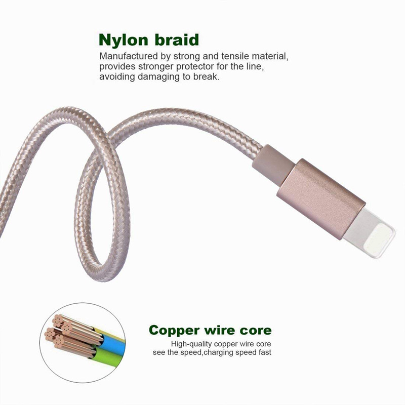 2019 Suppliers Aluminum Nylon Braided Charger V8 Type C Tipo Data Charging Micro USB Cable For iPhone Galaxy S Android Tablets