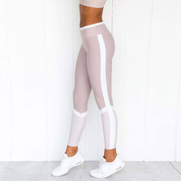 2019 wholesale women clothing Sport Compression Leggings Elastic Running Gym Fitness Dry Quick Workout Yoga Pants J0150