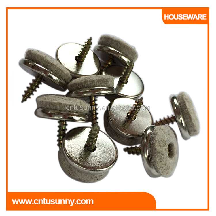Durable Wool Screw Glides Floor