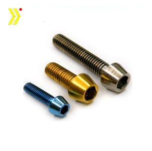 China screw manufacturer high quality customized all color anodized aluminium screw
