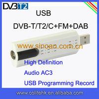 USB TV Stick USB DVB-T2, USB DVB-T/T2/C + FM + DAB Receiver Adapter
