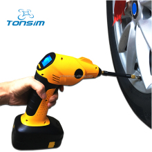 Tonsim Rechargeable Cordless Air Compressor Tyre Inflator Pump 12V Portable Cars
