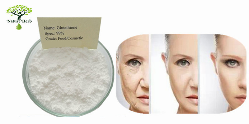 Factory supply Glutathione skin whitening powder/glutathione powder 99% bulk